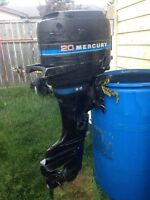 20hp mercury outboard- $800