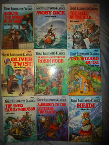 GREAT ILLUSTRATED CLASSIC HARD COVER BOOKS