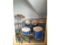 Yamaha GigMaker Acoustic drum kit with Sabian symbols and Vic Firth mufflers