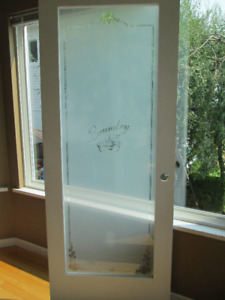 Glass Laundry Door - New