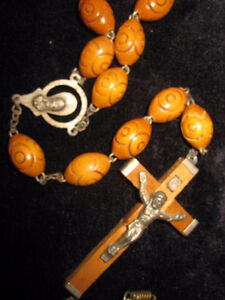 rosary beads with cross set of 2 necklaces