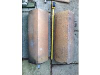 Reclaimed blond clay wall coping tops