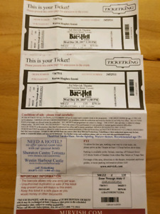 Paid of Bat Out of Hell Tickets - $120