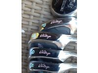 Compleat set of vantage balance ladies golf clubs trolly & bag