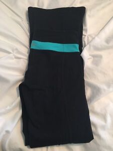 Reversible black lululemon pants 4