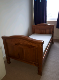 Cot bed solid wood