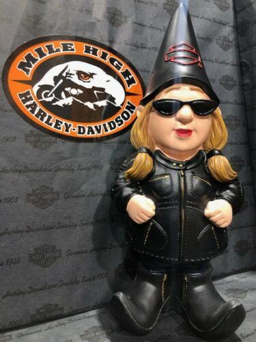 HARLEY-DAVIDSON FEMALE BIKER GNOME
