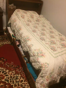 Single Bed Brown Bed Frame & Mattress