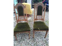 Antique oak chairs x 4. Perfect to up cycle