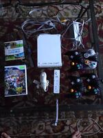 Wii + 4 gamecube controllers