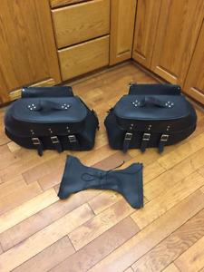 Harley Davidson  Sportster Leather Saddle Bags
