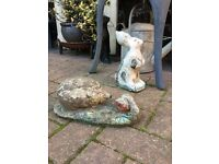 Vintage rabbit and hedgehog from £8