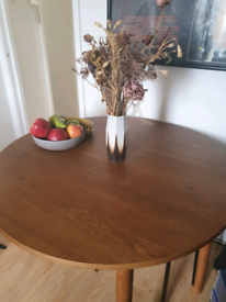 Extendable Habitat Solid Oak Dining Table