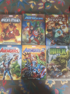 Animated Marvel Features 6 DVDS