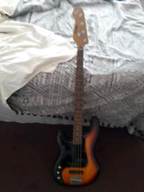 Shine bass guitar Left handed