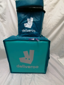 Deliveroo backpack and small thermal bag