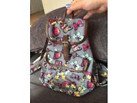 Butterfly school bag backpack as new