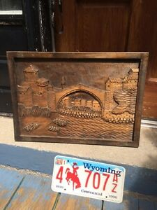 Nice carved wooden picture