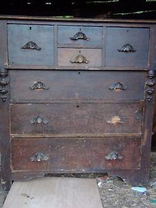 Pine Bonnet Style Dresser-Antique