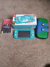 Nintendo switch lite with 2 games