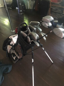 Top Flite XL golf clubs,  Taylor Made driver, with bag