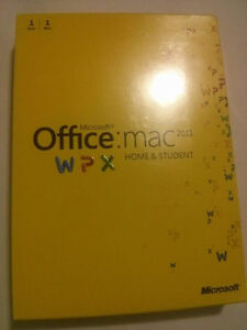Microsoft Office 2011 Home & Student for Mac New & Sealed