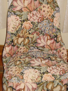 Vanity brocade chair & stool...perfect for a child or makeup