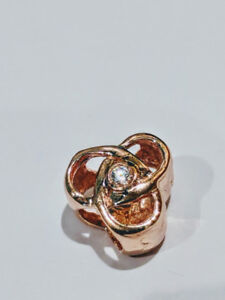 Sterling Silver Charm Rose Gold Plated Pandora style & Zirconias