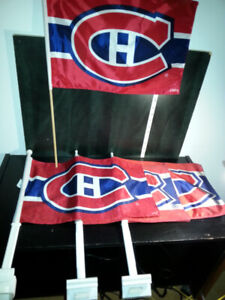 5 NHL MONTREAL CANADIENS FLAGS