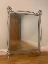 Silver square cheap Mirror