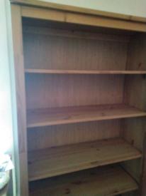 Large Pine Bookcase Storage Shelving Vinyl