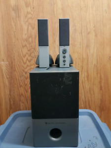 2.1 sound system with subwoofer