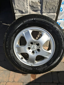 4 PNEUS CONTINENTAL 255/60R17 AVEC MAGS D'ORIGINE MERCEDES ML320