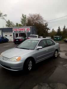 2003 HONDA CIVIC LX AUTO LOADED VERY NICE ONLY $2588.