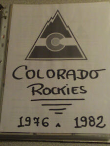 51 CARTES DE HOCKEY DES EX-ROCKIES DU COLORADO LNH 1976 A 1982