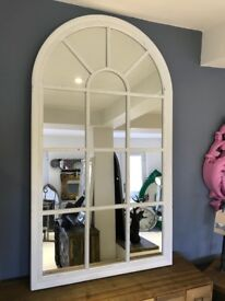 Large White Arch Mirror (new)