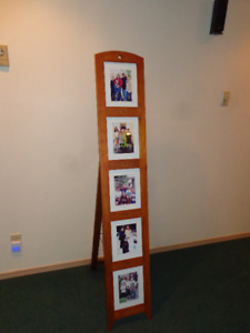 Floor standing picture frame