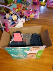Box of 6 months baby girl clothes