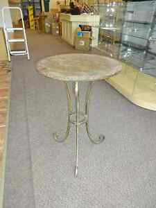 Stone top accent tables (2)