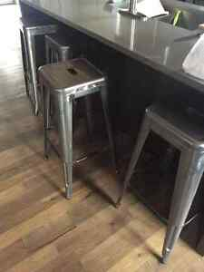 4 Tabourets de bar en métal style industriel