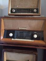 Radio antique a lampe allemand