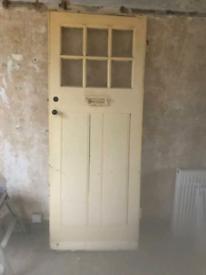 External vintage door