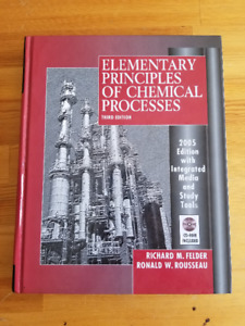 Elementary Principles of Chemical Processes -Third (3rd) Edition