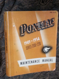 PONTIAC Series 2000 - 2200 Maintenance MANUAL 49 50 51 52 53 54