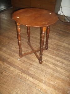 Antique Walnut Accent Table