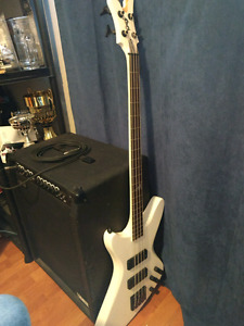 Peavey bass guitar and Delta amp