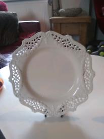 Royal Creamware plates x2