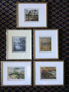 Group of 7 Framed Prints
