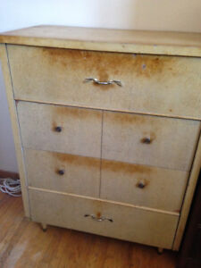 Mid-century modern dressers - large drawers, solid wood, vintage