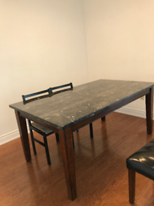 Moving sale- Huge Saving for Table,Chair,Shelf- Look like New